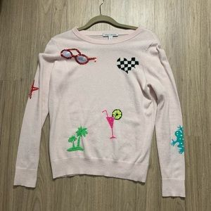 Autumn Cashmere Tropical Patches Sweater